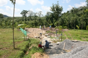 ground work for building a villa in thailand
