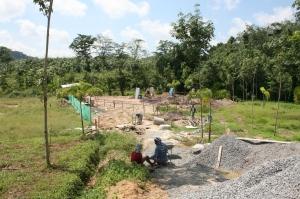 ground work for building a villa in thailand