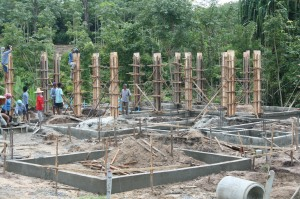 Foundations nearing completion