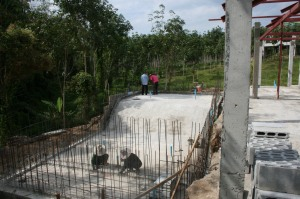 Swimming Pool - Concrete Base Poured