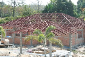 Steel Roof Structure 100% Complete