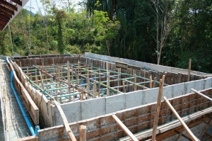Swimming Poll - ready for the concrete pour