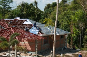 Roofing Tile Being Fitted