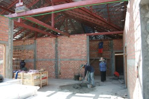 Inside the Villa work continues