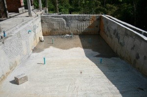 Swimming Pool - After Drained